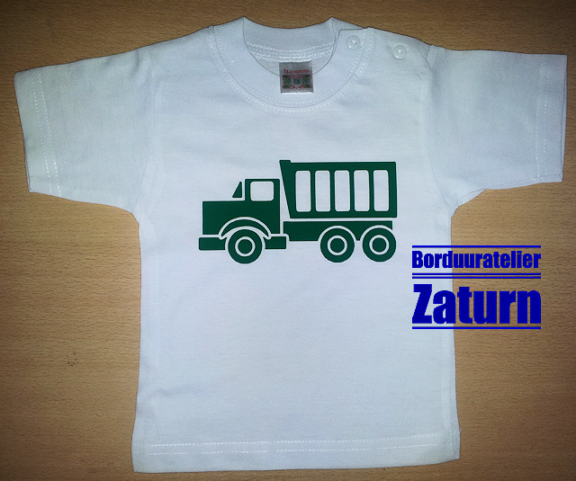 Baby t-shirtje truck-1 maat 62